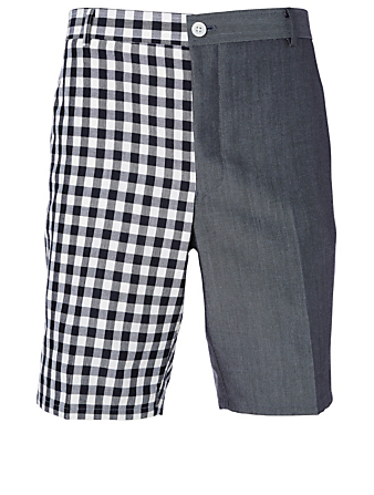 THOM BROWNE Unconstructed Shorts In Funmix Gingham Men's Blue