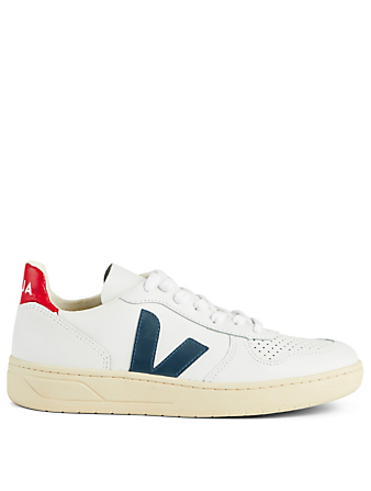 VEJA V-10 Leather Sneakers Women's White