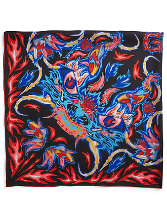 GIVENCHY Silk Scarf In Dragon Print Womens Multi