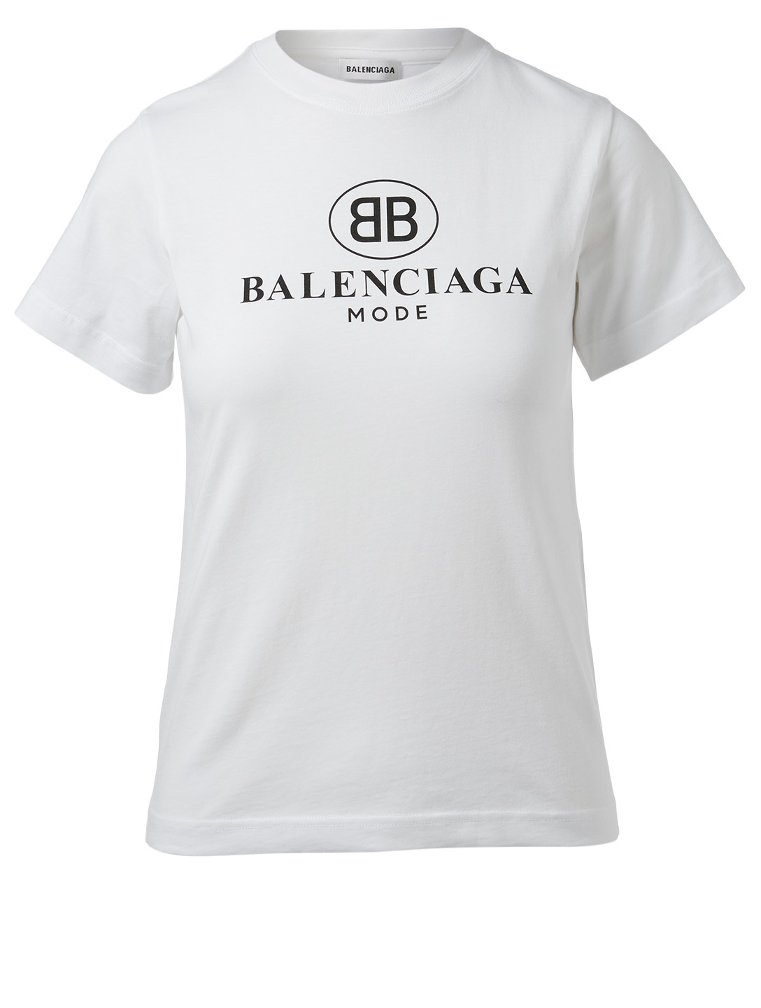 BALENCIAGA BB Mode Logo T-Shirt Women's White