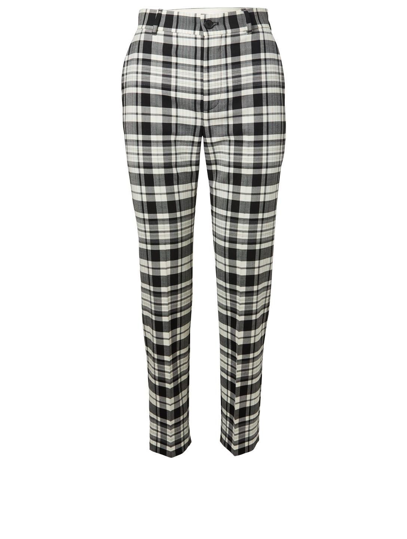 f94b4a7929b7 BALENCIAGA Wool-Blend Pants In Plaid Designers Multi ...