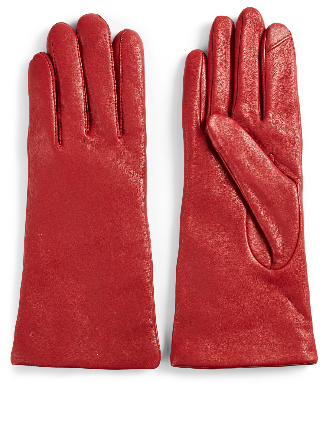 FOWNES BROTHERS & CO. Leather Tech Gloves Collections Red