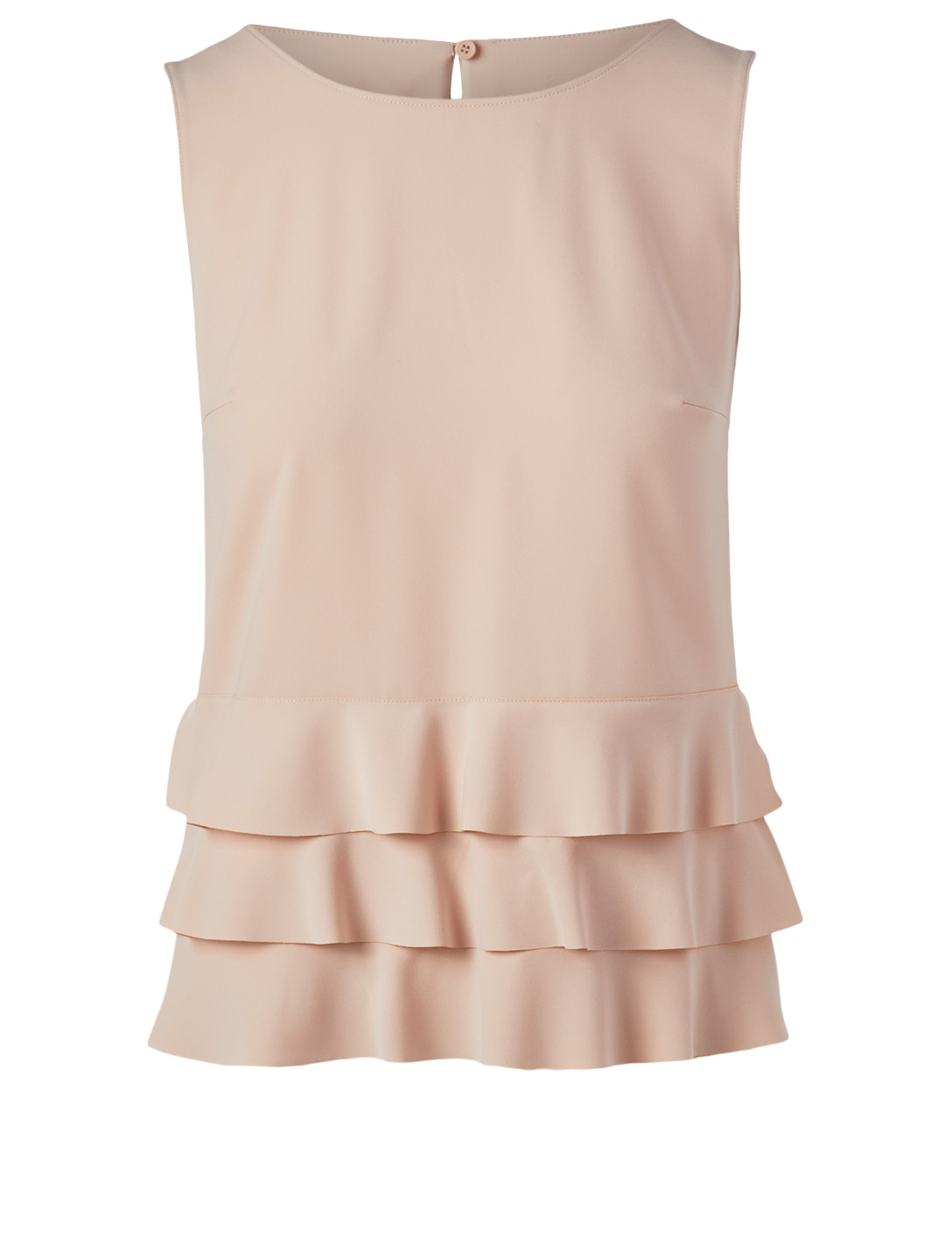 AKRIS PUNTO Crêpe Blouse With Ruffled Hem Womens Pink