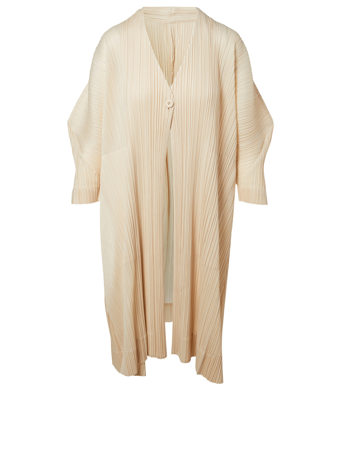 PLEATS PLEASE ISSEY MIYAKE Stilted Form Pleated Cardigan Women's Neutral