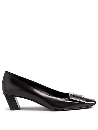 ROGER VIVIER Belle Vivier Leather Pumps Womens Black