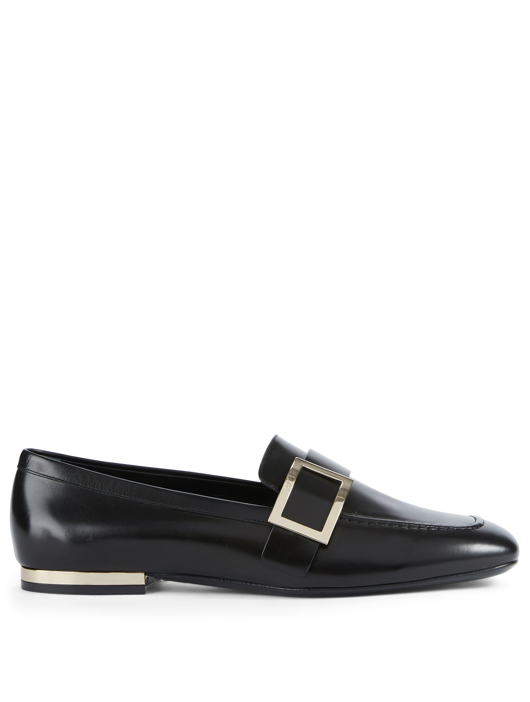 ROGER VIVIER Leather Loafers With Buckle Womens Black