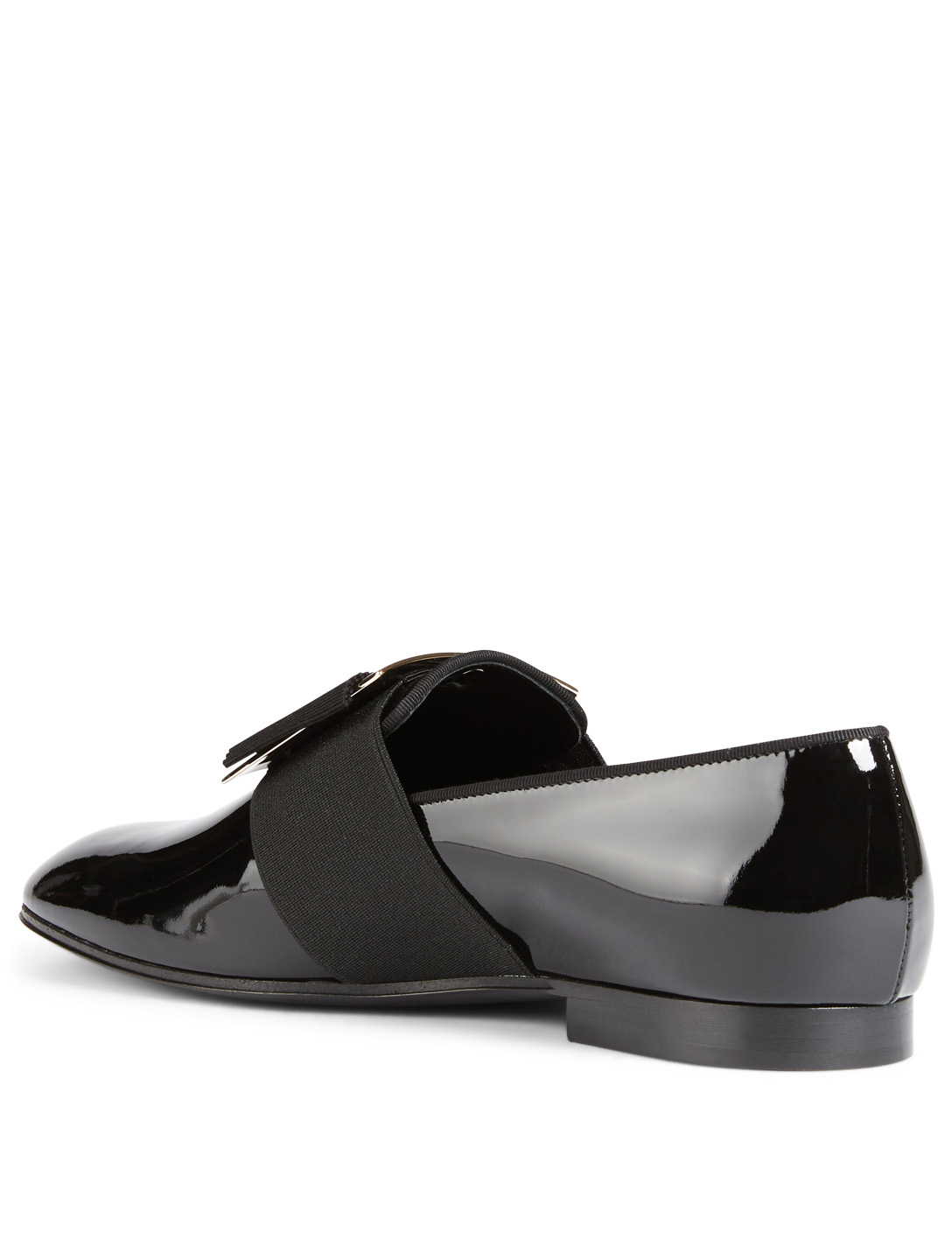 ROGER VIVIER Patent Leather Loafers Womens Black