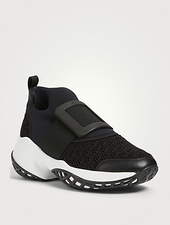 ROGER VIVIER Viv' Run Sneakers With Buckle Women's Black