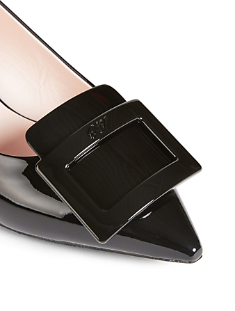 ROGER VIVIER Gommettine Patent Leather Pumps Womens Black
