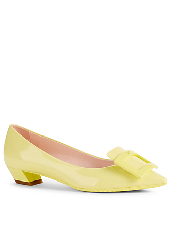 ROGER VIVIER Gommettine Patent Leather Pumps Womens Yellow
