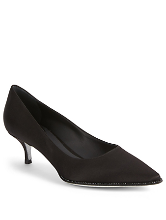 RENE CAOVILLA Grace 50 Satin Pumps Womens Black