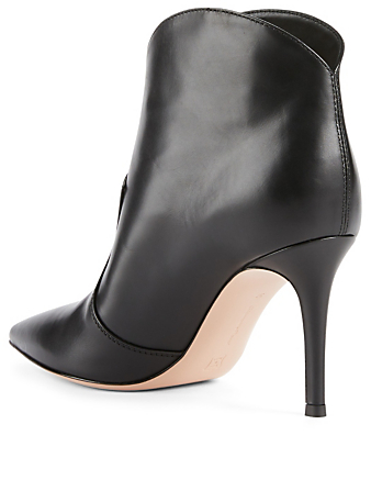 GIANVITO ROSSI Mable 85 Leather Ankle Boots Womens Black