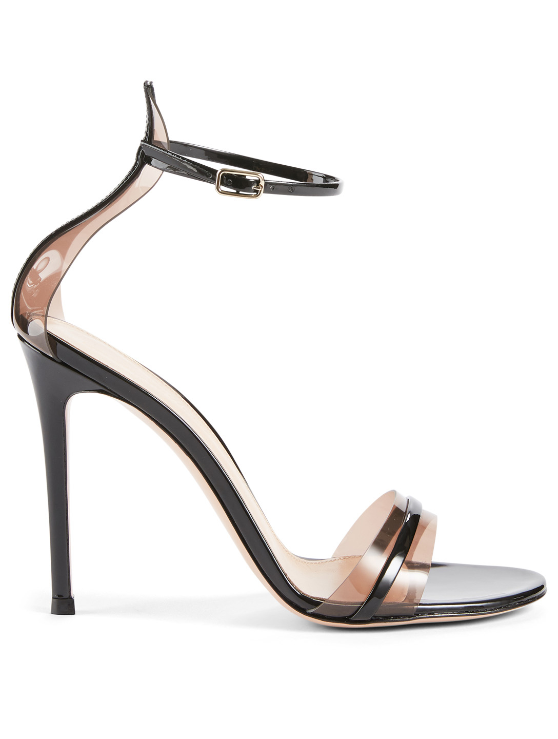 502494858 GIANVITO ROSSI G String Leather And PVC Heeled Sandals