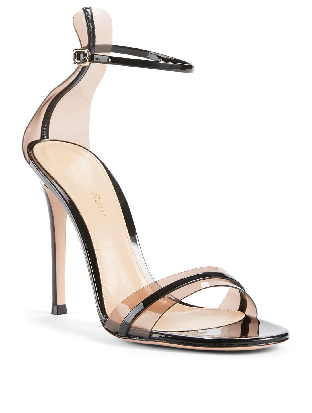 0a6ea5e98 ... GIANVITO ROSSI G String Leather And PVC Heeled Sandals Womens Black ...