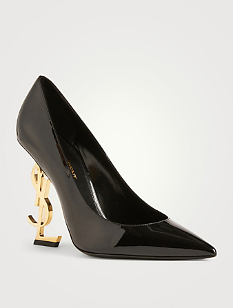SAINT LAURENT Opyum Patent Leather Pumps Womens Black