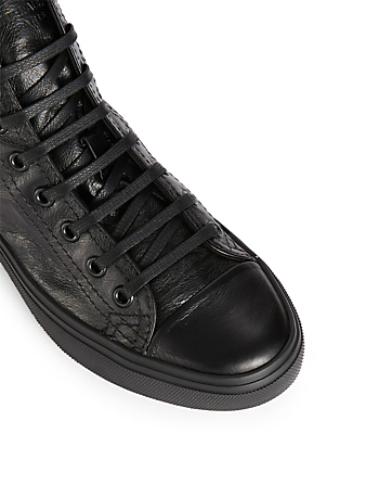 SAINT LAURENT Baskets Bedford en cuir Femmes Noir