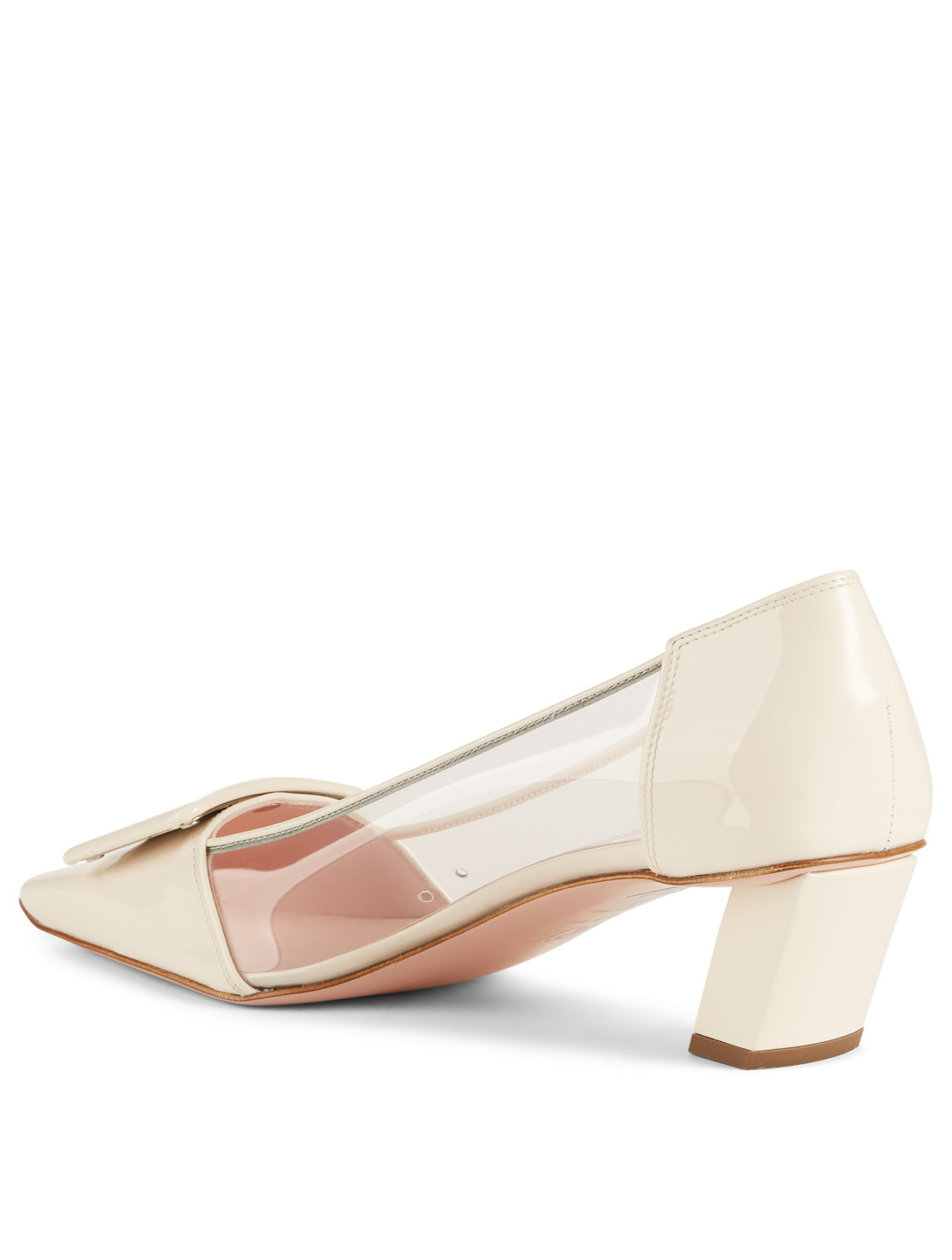 ROGER VIVIER Belle Vivier PVC And Patent Leather Pumps Womens White