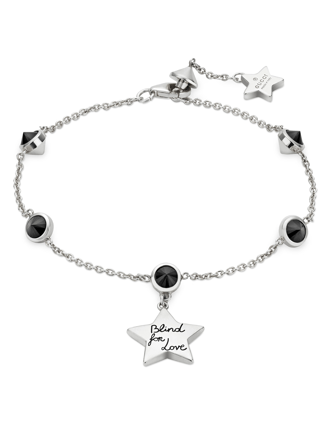 122aea74a63 GUCCI Blind For Love Sterling Silver Bracelet Women's Silver ...