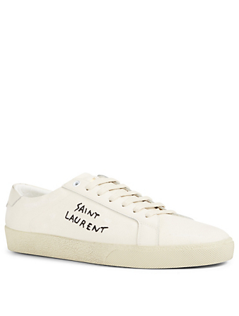 SAINT LAURENT Court Classic SL/06 Leather Sneakers Men's White