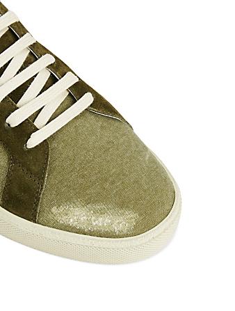 96c53aec05c6 ... SAINT LAURENT Court Classic SL 06 Destroyed Canvas Sneakers Men s Green