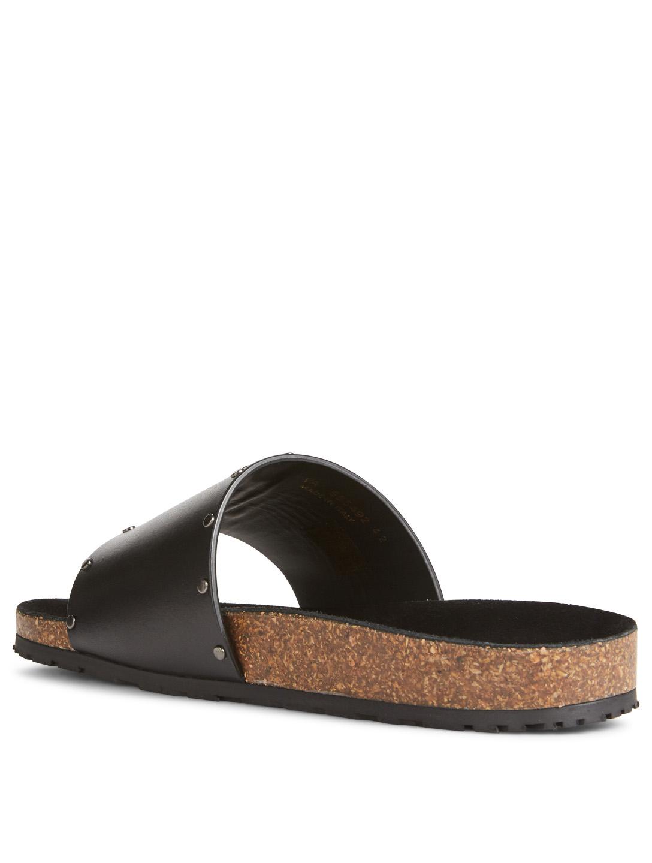 49ce2e53 SAINT LAURENT Jimmy Leather Slide Sandals With Studs   Holt Renfrew