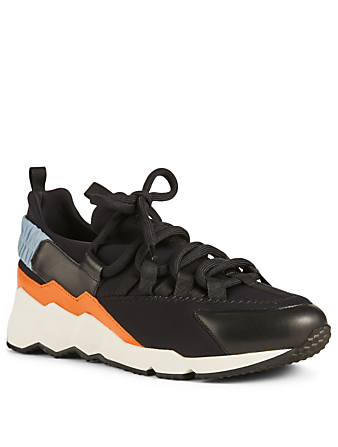 PIERRE HARDY Trek Comet Leather And Neoprene Sneakers Men's Black