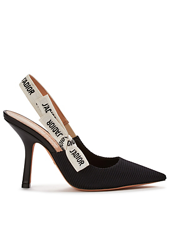 DIOR J'Adior Technical Fabric Slingback Pumps Women's Black