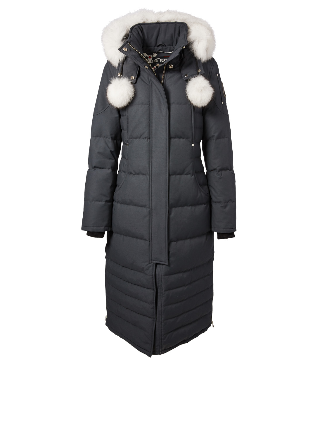 MOOSE KNUCKLES Saskatchewan Down Parka With Fur Hood Women's Grey