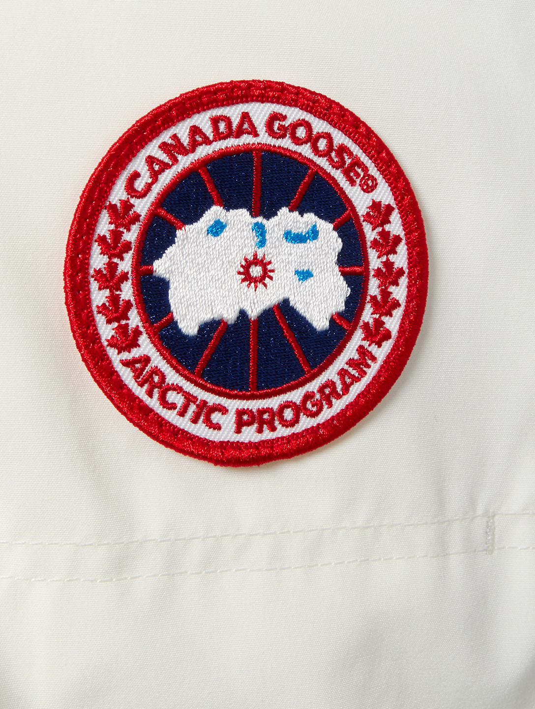 CANADA GOOSE Expedition Down Parka With Fur Womens White