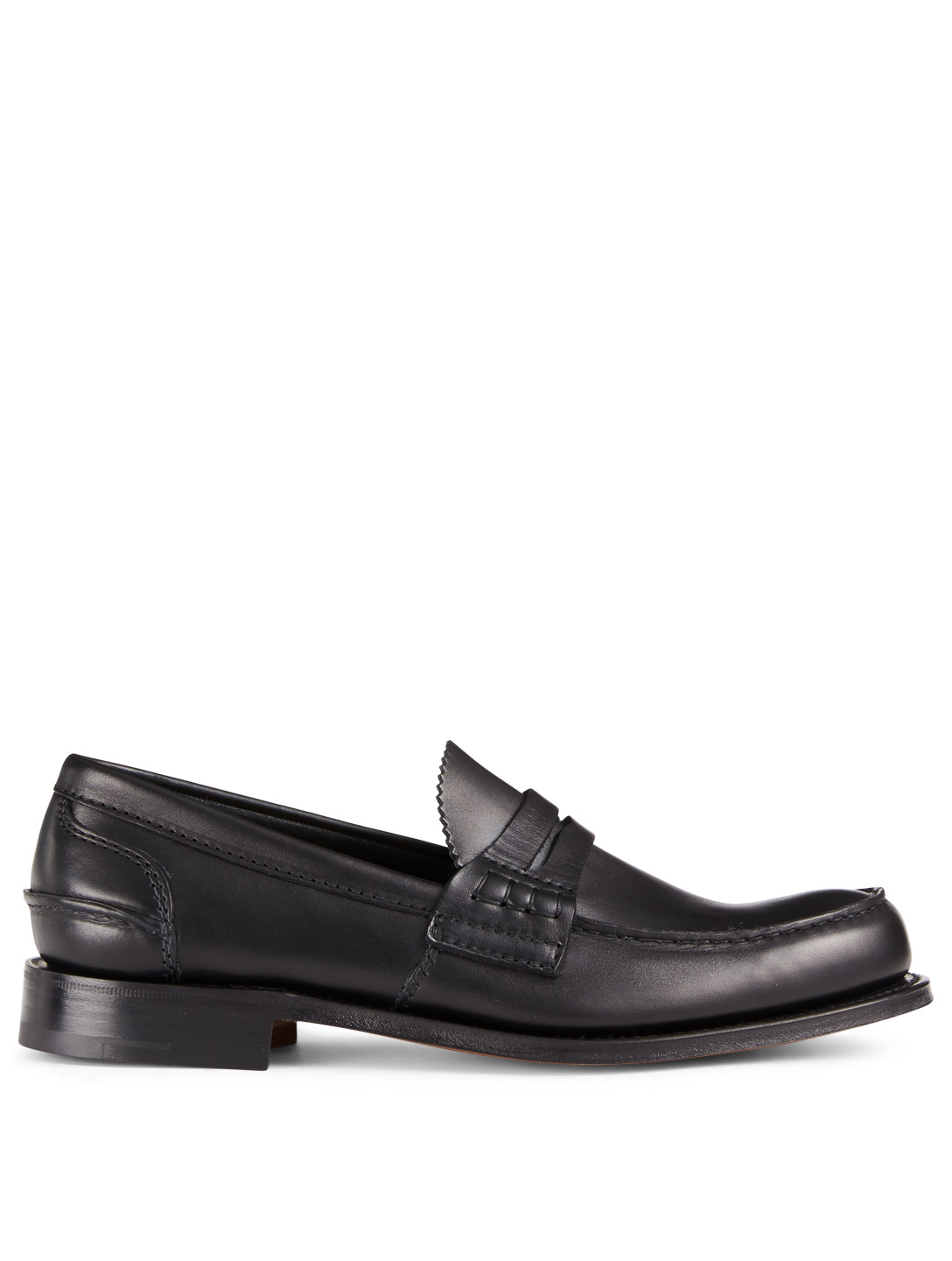 CHURCH'S Pembrey Leather Loafers Men's Black