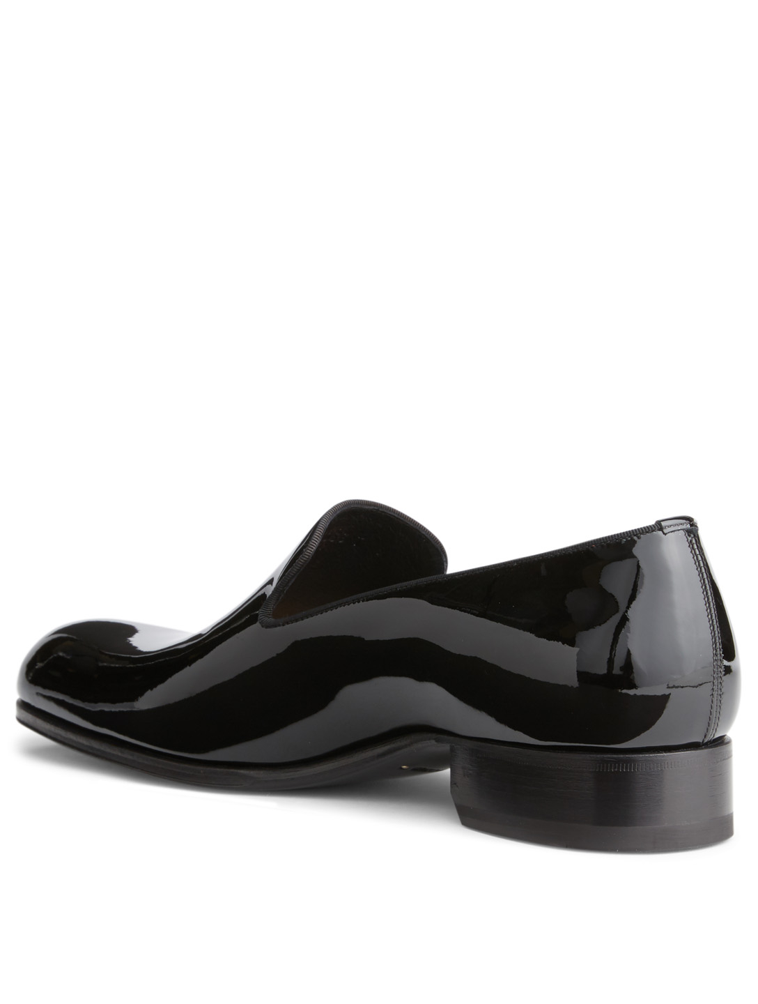 TOM FORD Edgar Patent Leather Evening Loafer Men's Black