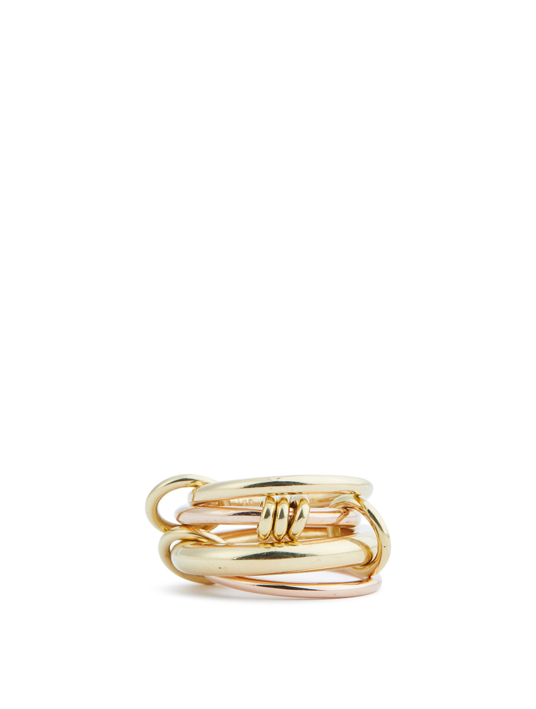 SPINELLI KILCOLLIN Aries 18K Yellow And Rose Gold Stacked Ring Womens Gold