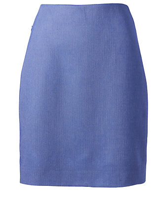 AKRIS Wool-Blend Pencil Skirt Womens Purple