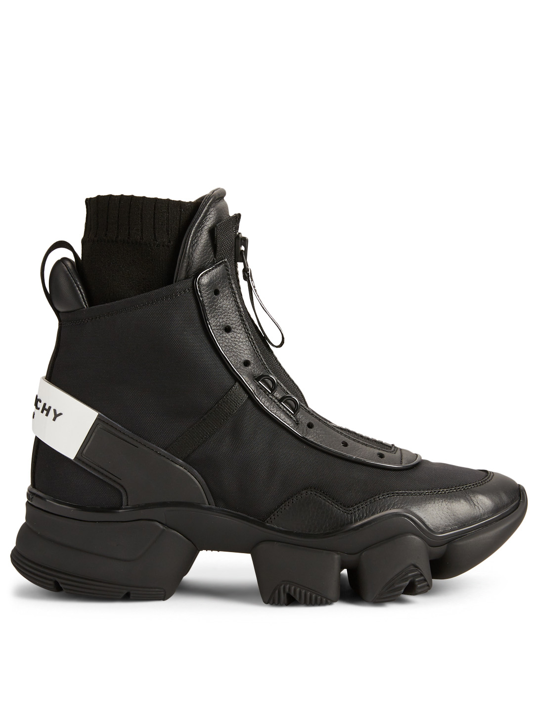 GIVENCHY Jaw Leather And Nylon High-Top Sneakers Men's Black