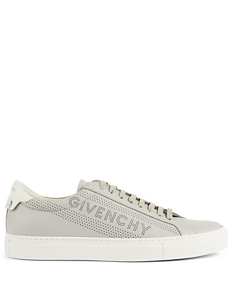 GIVENCHY Urban Street Perforated Leather Sneakers Men's Grey