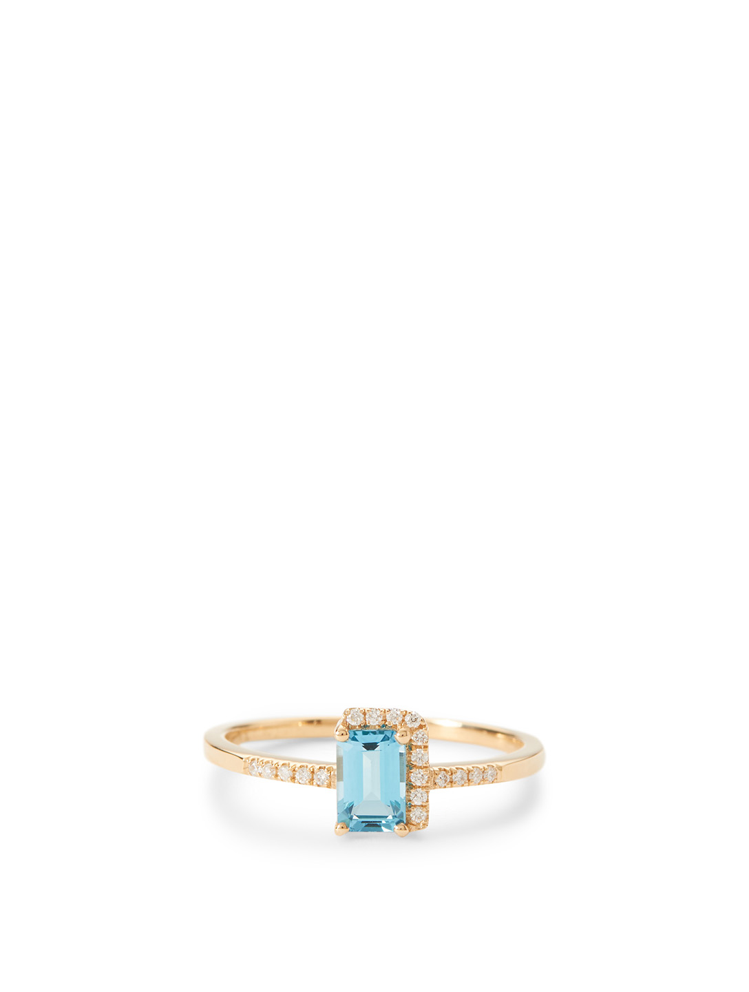 Amalfi 14 K Gold Ring With Blue Topaz And Diamonds by Holt Renfrew
