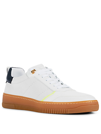 BUSCEMI Dome Leather Sneakers Men's White