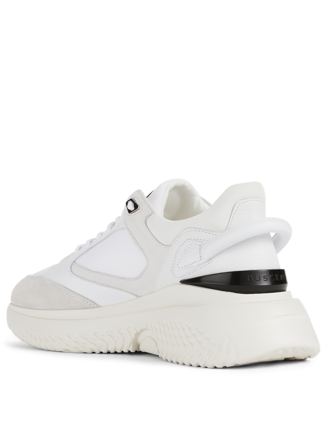 BUSCEMI Veloce Leather Sneakers Men's White