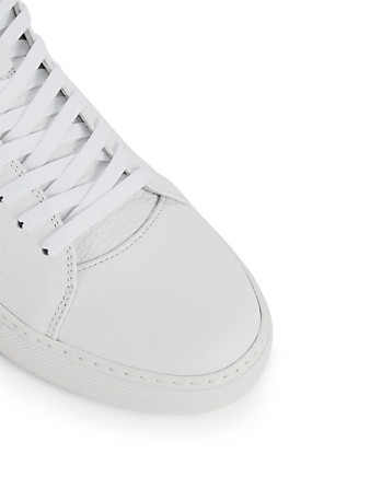 BUSCEMI 100MM Flap Leather High-Top Sneakers Men's White