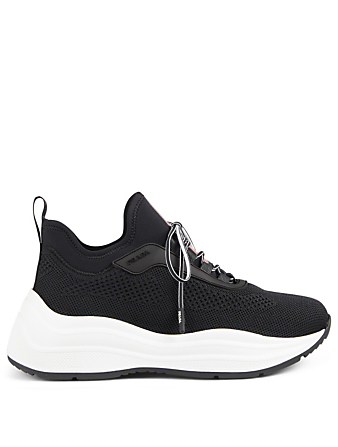 PRADA Technical Knit Sneakers Designers Black