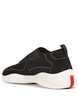 PRADA Technical Fabric Sneakers Womens Black