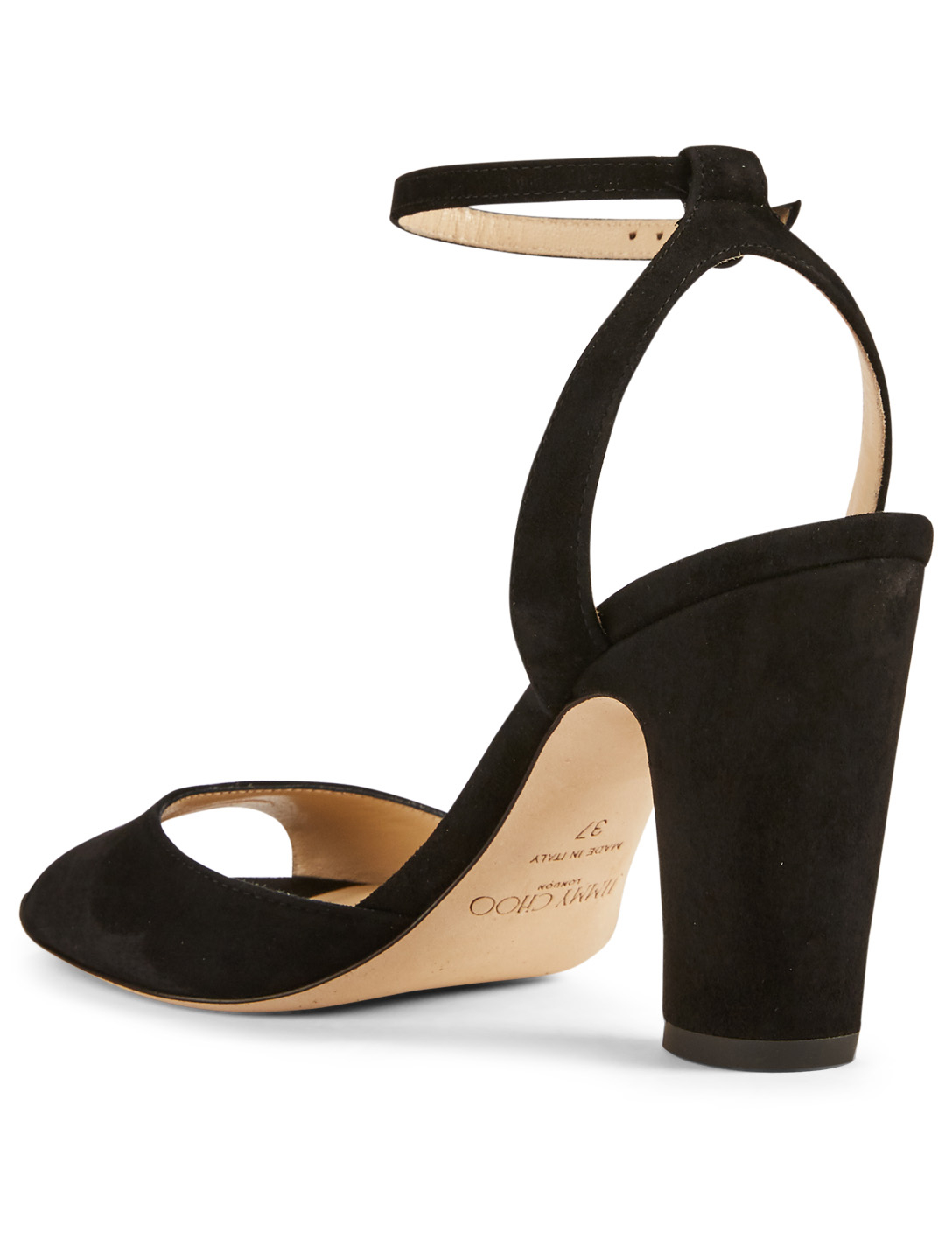 JIMMY CHOO Miranda 85 Suede Heeled Sandals Womens Black