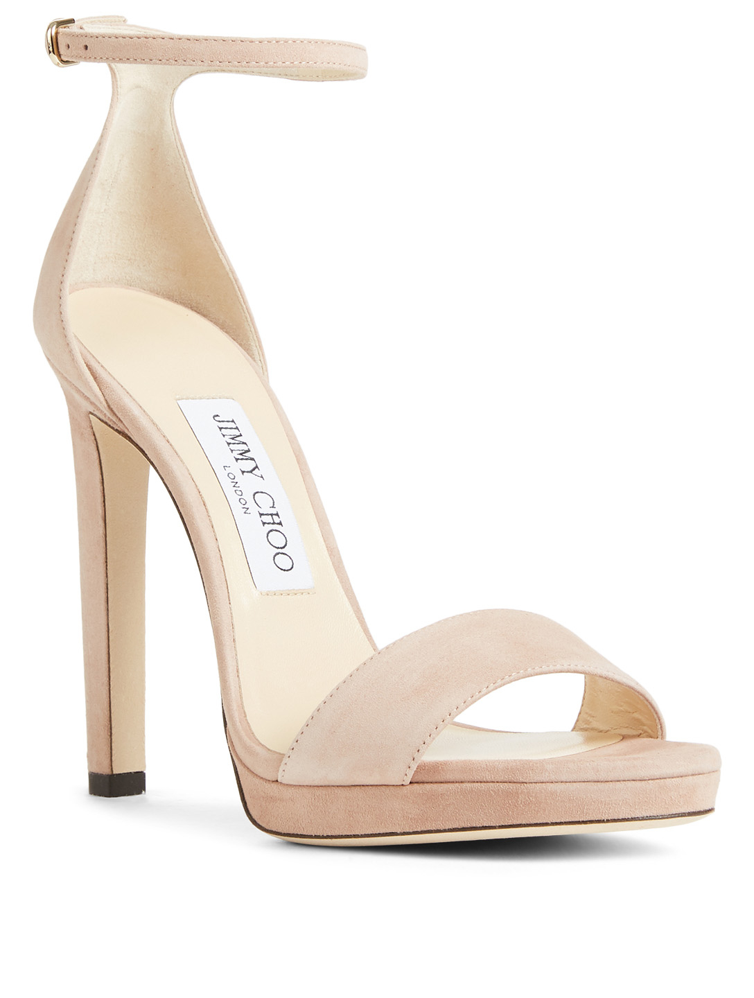 JIMMY CHOO Misty 120 Suede Platform Sandals Women's Neutral