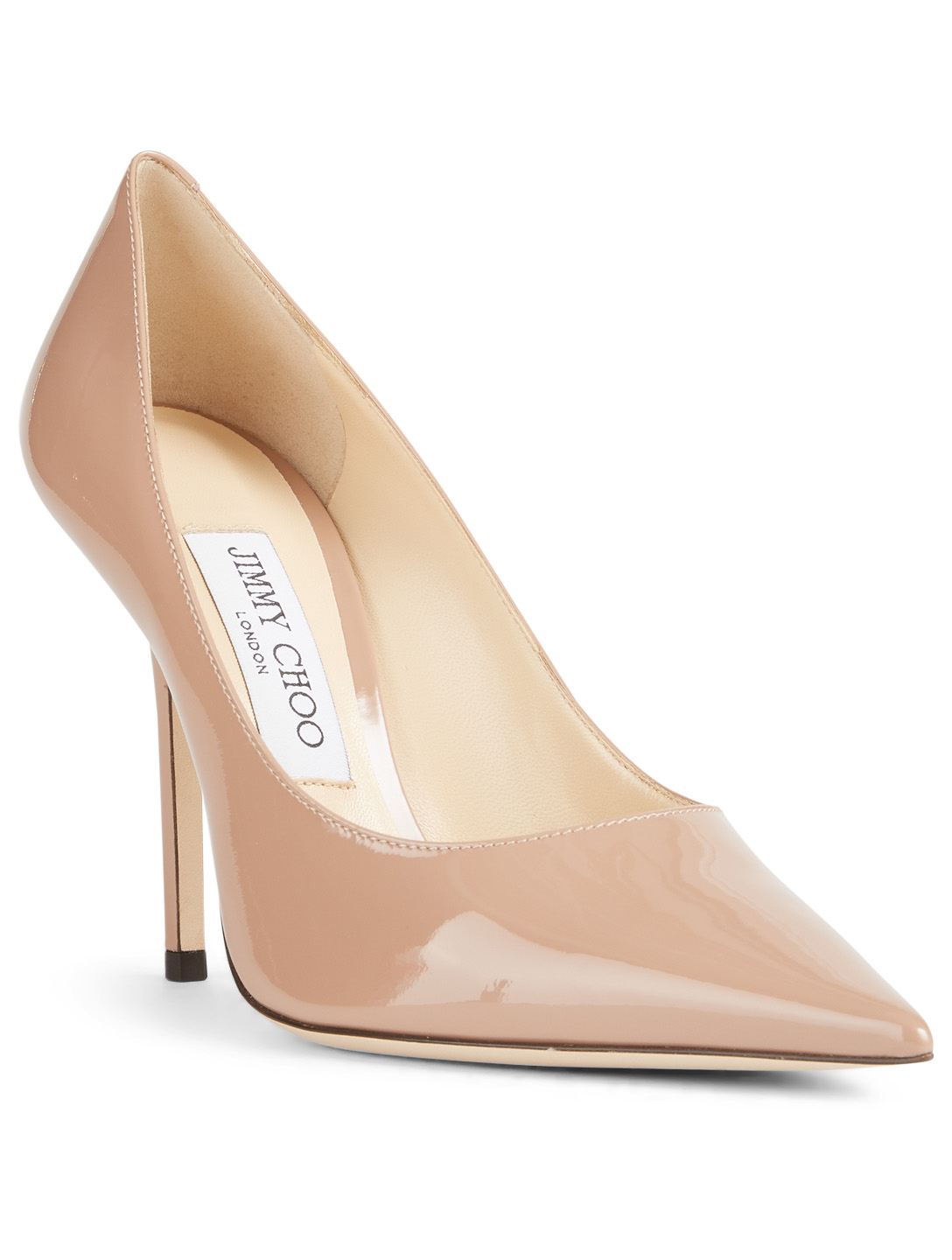 JIMMY CHOO Love 100 Patent Leather Pumps Womens Neutral