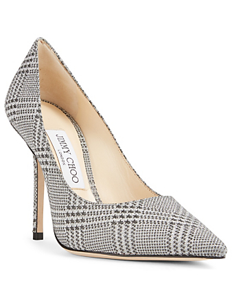 JIMMY CHOO Love 100 Prince of Stars Glitter Pumps Womens Silver