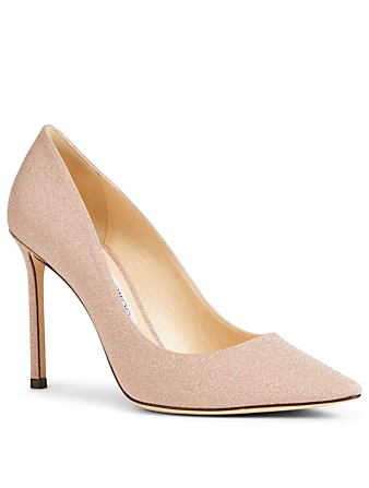 JIMMY CHOO Romy 100 Fine Glitter Pumps Womens Neutral