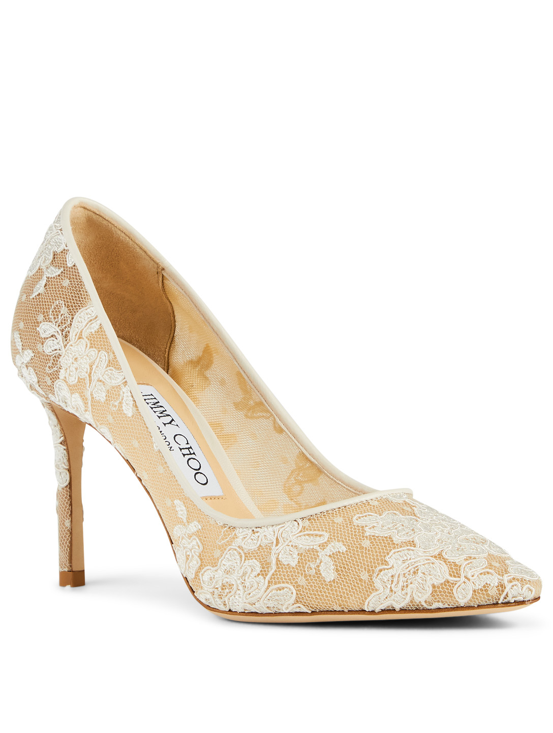 JIMMY CHOO Romy 85 Lace Pumps Women's White
