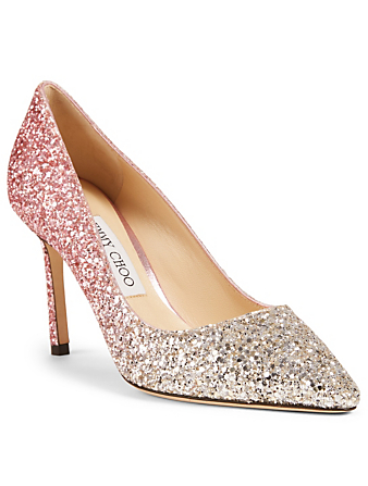 JIMMY CHOO Romy 85 Glitter Degrade Pumps Women's Pink