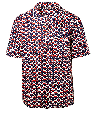 VALENTINO Short Sleeve Shirt In Valentino Scale Print Designers Blue