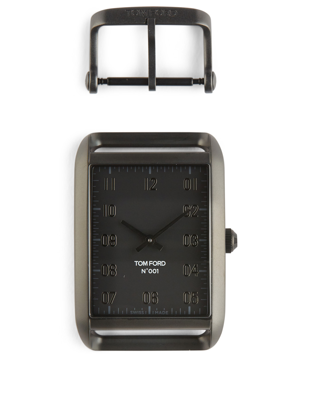 TOM FORD Large 001 Coated Stainless Steel Watch Case With Buckle Womens Black
